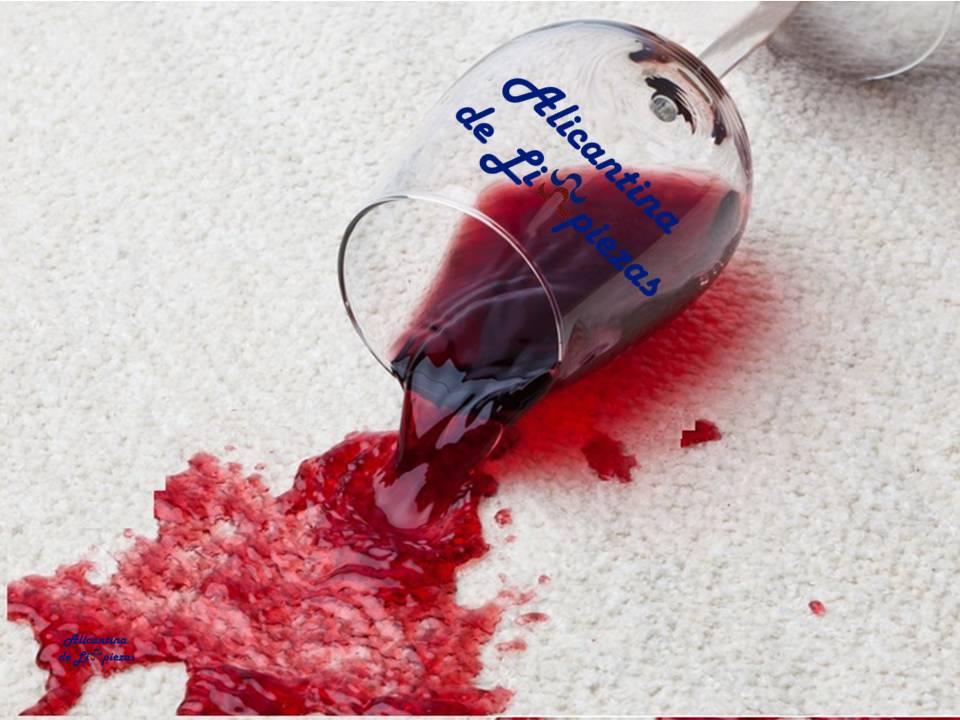 Como quitar manchas de vino tinto consejos empresa limpieza mantenimientos alicante servicios alicantina de limpiezas